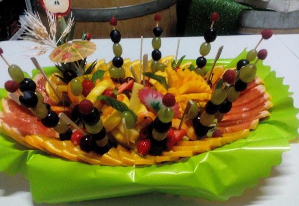 plateau fruits sculptés