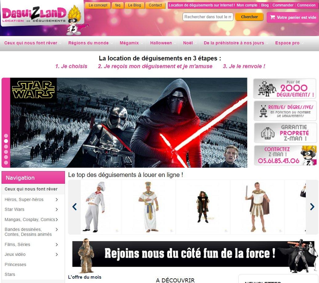home page site deguizland