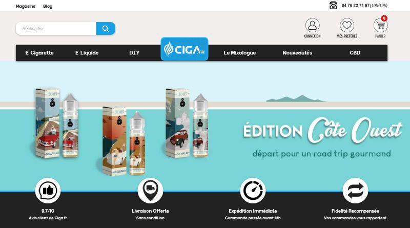 Ciga fr Cigarette électronique, e-liquide et DIY de qualité
